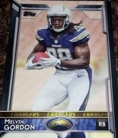 2015 Topps Football Factory Retail Variations Melvin Gordon
