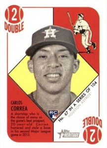2015 Topps Heritage '51 Collection Carlos Correa RC #67