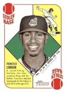 2015 Topps Heritage '51 Collection Francisco Lindor RC #75