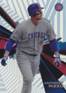 2015 Topps High Tek Baseball Base Stripes Rizzo
