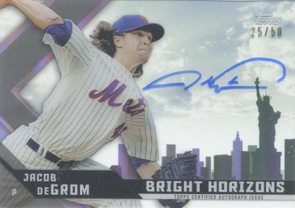 2015 Topps High Tek Baseball Bright Horizons Autograph DeGrom