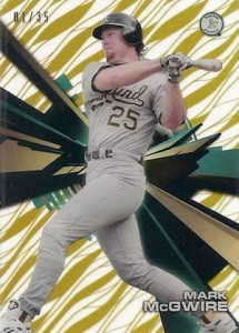 2015 Topps High Tek Baseball Patterns Waves Gold McGwire