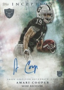 2015 Topps Inception Amari Cooper Autograph