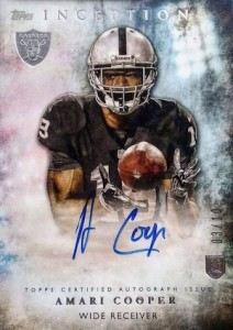 2015 Topps Inception Amari Cooper Autograph Variation