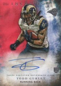 2015 Topps Inception Football Rookie Autograph Red Gurley