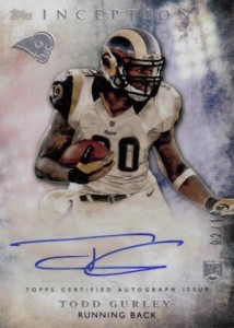 2015 Topps Inception Todd Gurley Variation Autograph