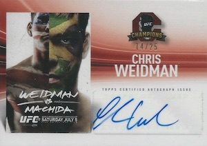 2015 Topps UFC Champions Fight Poster Review Autograph