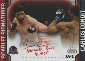 2015 Topps UFC Champions Scarlet Signatures