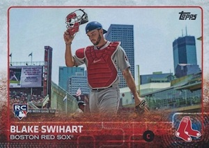 2015 Topps Update Series Base Photo Variation Blake Swihart
