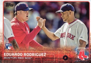 2015 Topps Update Series Base Photo Variation Eduardo Rodriguez