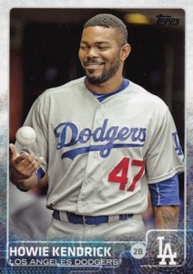 2015 Topps Update Series Base Photo Variation Howie Kendrick