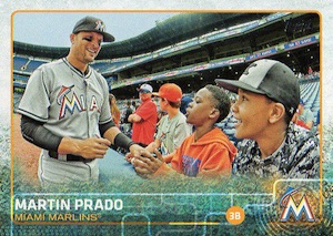 2015 Topps Update Series Base Photo Variation Martin Prado