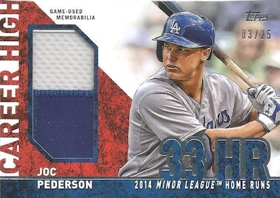 2015 Topps Update Series Baseball Career High Jumbo Joc Pederson
