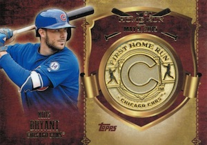 2015 Topps Update Series Baseball First Home Run Medallion Coin Kris Bryant