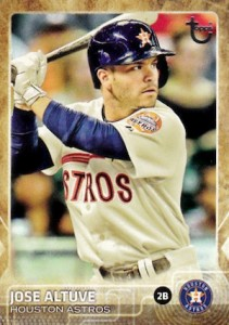 2015 Topps Update Series Baseball Retro Throwback Variation Altuve