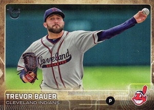 2015 Topps Update Series Baseball Retro Throwback Variation Bauer