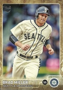 2015 Topps Update Series Baseball Retro Throwback Variation Brad Miller