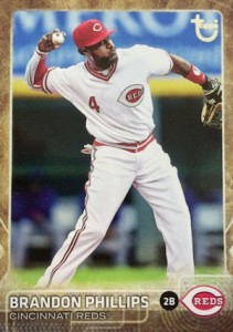 2015 Topps Update Series Baseball Retro Throwback Variation Brandon Phillips