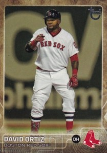 2015 Topps Update Series Baseball Retro Throwback Variation David Ortiz