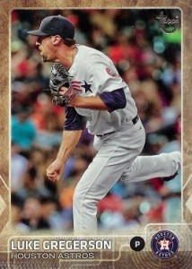 2015 Topps Update Series Baseball Retro Throwback Variation Luke Gregerson