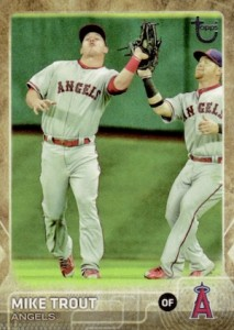 2015 Topps Update Series Baseball Retro Throwback Variation Mike Trout