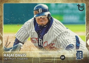 2015 Topps Update Series Baseball Retro Throwback Variation Rajai Davis