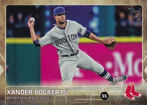 2015 Topps Update Series Baseball Retro Throwback Variation Xander Bogaerts