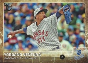2015 Topps Update Series Baseball Retro Throwback Variation Yordano Ventura