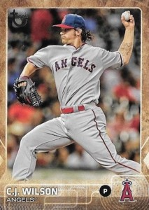 2015 Topps Update Series Baseball Throwback Variation CJ Wilson