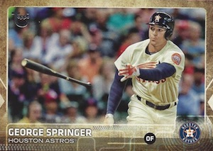 2015 Topps Update Series Baseball Throwback Variation George Springer