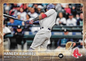 2015 Topps Update Series Baseball Throwback Variation Hanley Ramirez