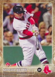 2015 Topps Update Series Baseball Throwback Variation Mookie Betts