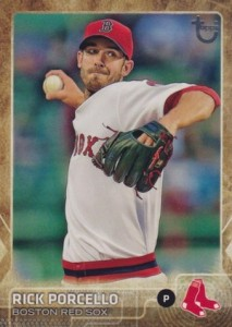 2015 Topps Update Series Baseball Throwback Variation Rick Porcello