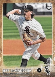 2015 Topps Update Series Baseball Throwback Variation Samardzija