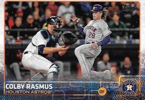 2015 Topps Update Series Hidden Gems Sparkle Variations Colby Rasmus
