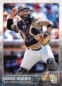 2015 Topps Update Series Hidden Gems Sparkle Variations Derek Norris