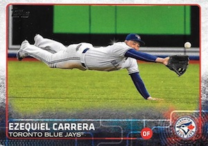 2015 Topps Update Series Hidden Gems Sparkle Variations Ezequiel Carrera