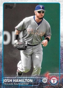 2015 Topps Update Series Hidden Gems Sparkle Variations Josh Hamilton