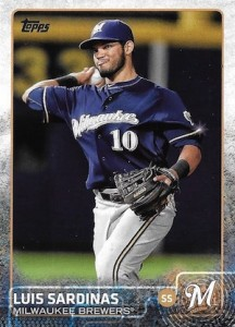 2015 Topps Update Series Hidden Gems Sparkle Variations Luis Sardinas