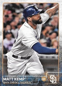 2015 Topps Update Series Hidden Gems Sparkle Variations Matt Kemp