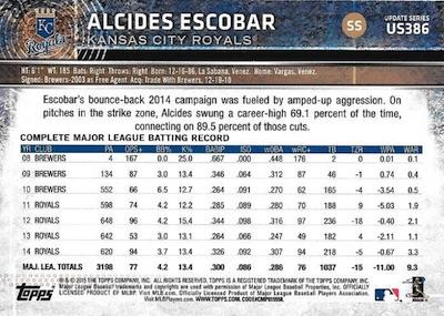 2015 Topps Update Series Baseball Variations Short Print Guide 216