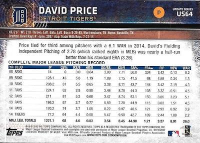 2015 Topps Update Series Baseball Variations Short Print Guide 172