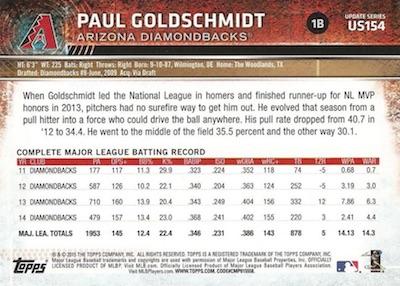 2015 Topps Update Series Baseball Variations Short Print Guide 185