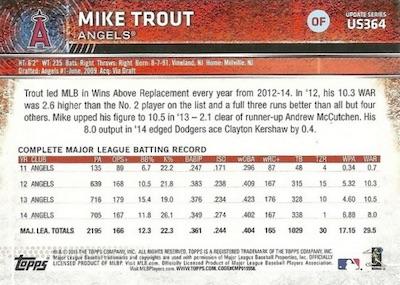 2015 Topps Update Series Baseball Variations Short Print Guide 212