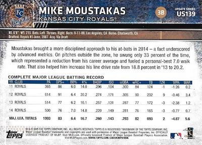 2015 Topps Update Series Baseball Variations Short Print Guide 182