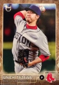 2015 Topps Update Series Throwback Variations Tazawa
