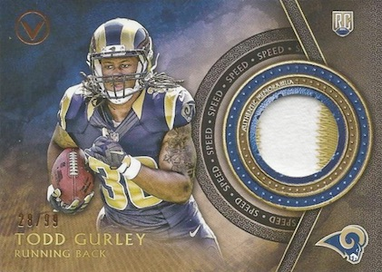 2015 Topps Valor Football Patches Speed Gurley