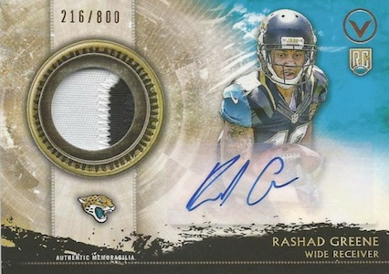 2015 Topps Valor Football Shield of Honor Autograph Patch