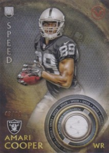 2015 Topps Valor Rookie Relics Speed Amari Cooper