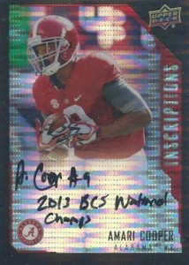 2015 Upper Deck Inscriptions Amari Cooper Black